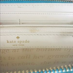 kate spade Bags - Kate Spade light blue wallet with 12 Card Slots